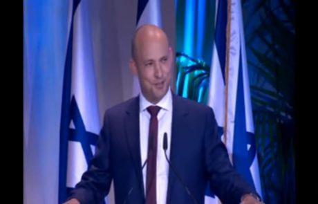 השר בנט בפרס ישראל: אל תקטרו, תפעלו, תהיו יזמים.