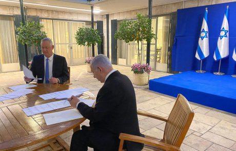 """יש ממשלה: צוותי המו""""מ של הליכוד וכחול לבן חתמו על הסכם"""