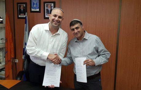 סגן ראש עיר ותיקי החינוך, התיירות והתרבות התורנית – הבית היהודי בלוד חתם על הסכם קוליציוני