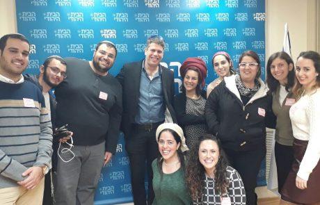 לא רק בורקס ושפם: הרצאה בנושא ניו מדיה ורשתות חברתיות הועברה לחברי תאי 'ישראלים' בביקורם בכנסת